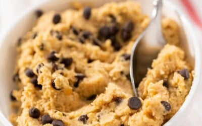cookie dough hummus only 5 minutes.