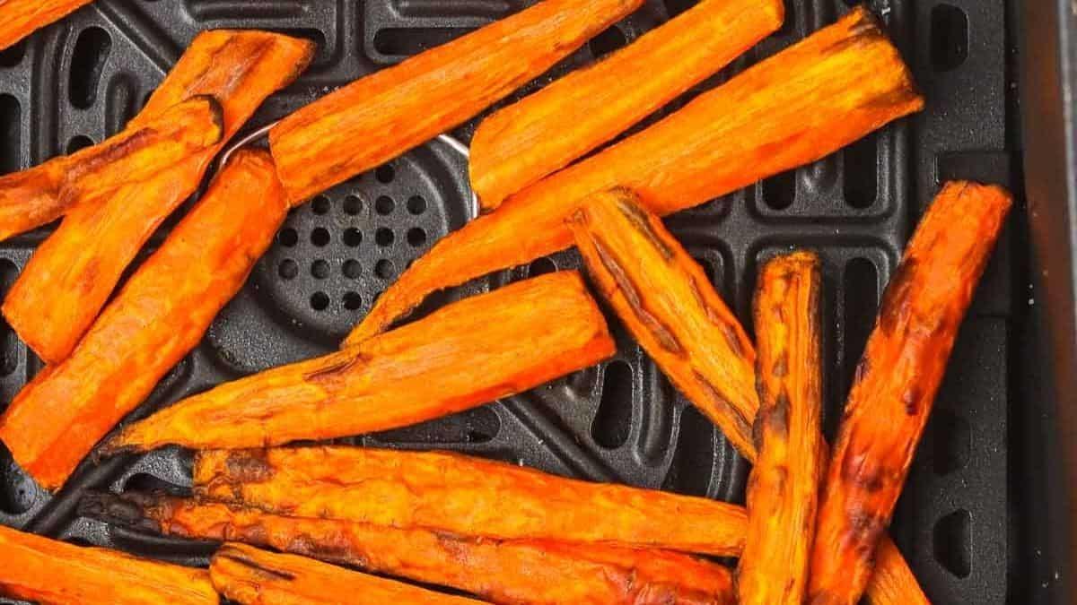 crispy carrots in an air fryer.
