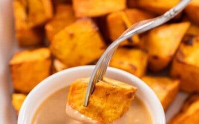 Brown Sugar & Cinnamon sweet potato cubes.