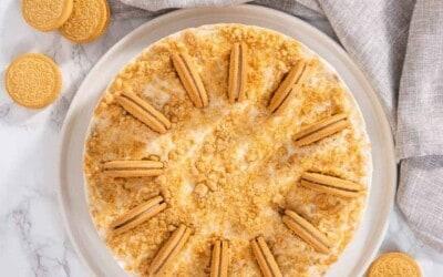no bake 15 minute oreo cheesecake.