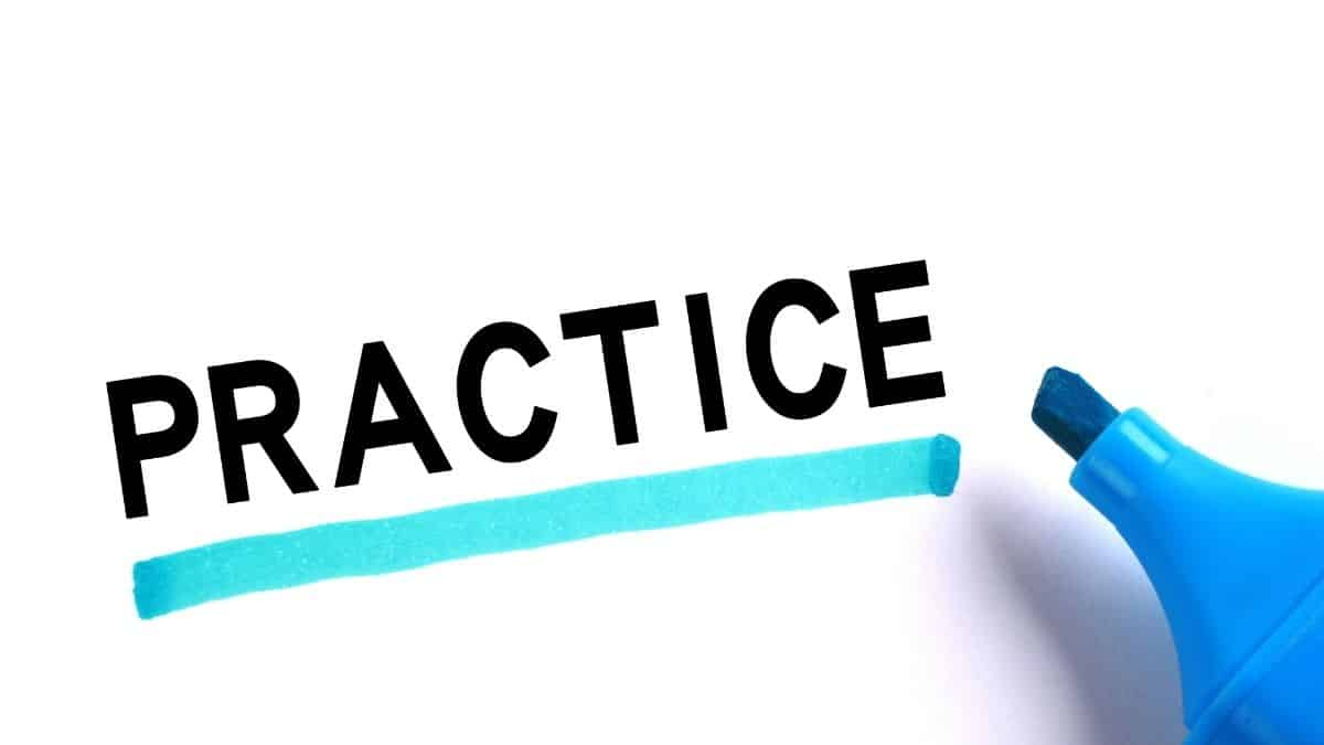 the word practice spelled out, something you have to do to prevent future binges if you struggle with this.