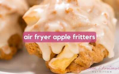 Air Fryer Apple Fritters Recipe.