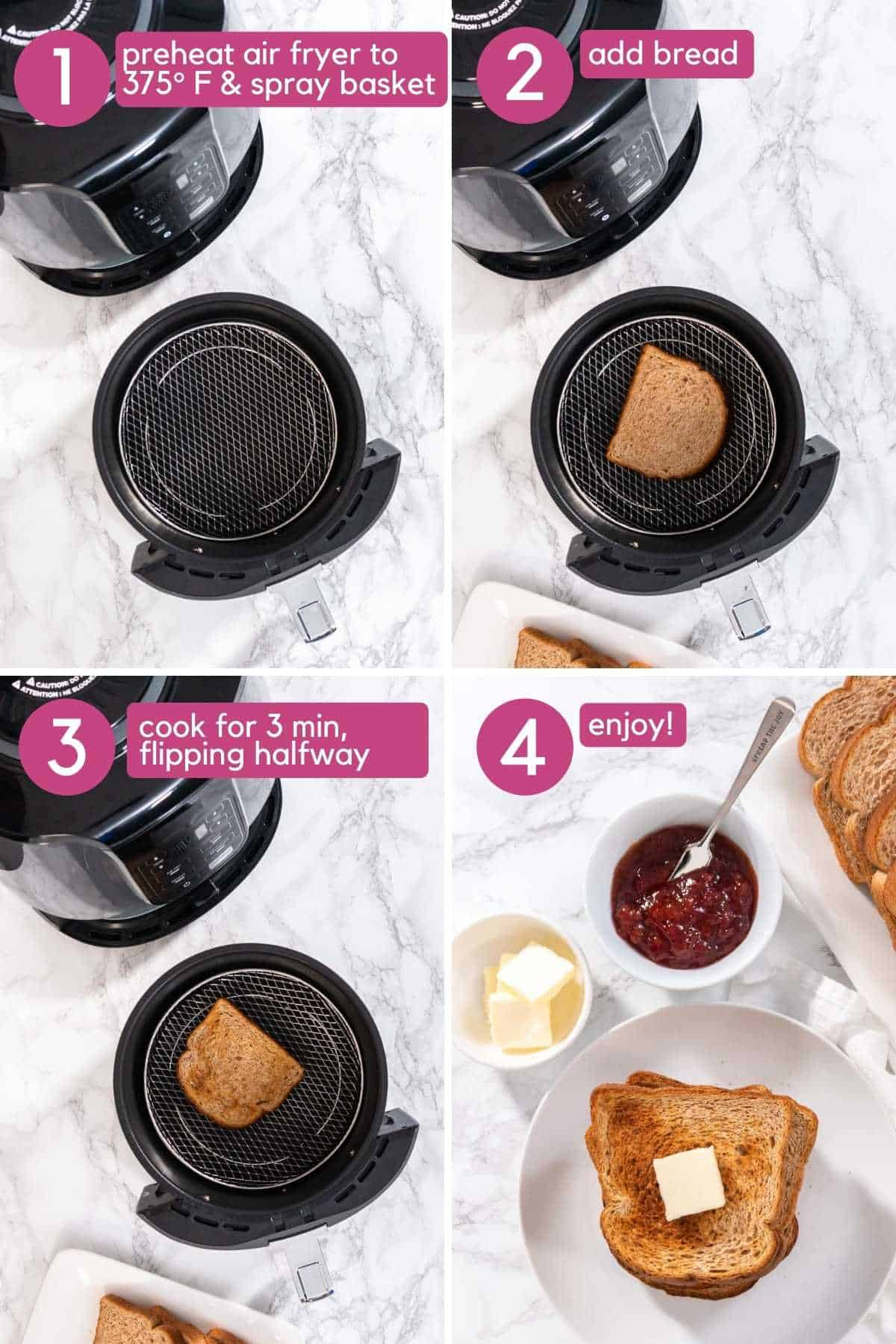 How to make air fryer toast.