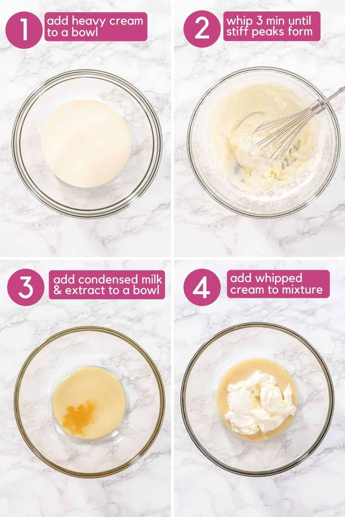 Make whipped cream to start chocolate ice cream bars.