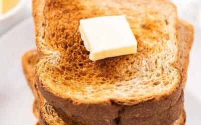 easiest and crispiest air fryer toast.