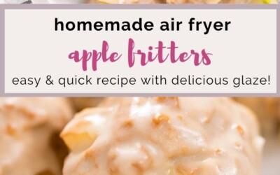 homemade air fryer apple fritters.